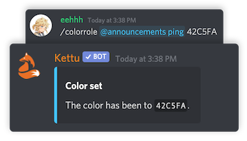Image of colorrole command
